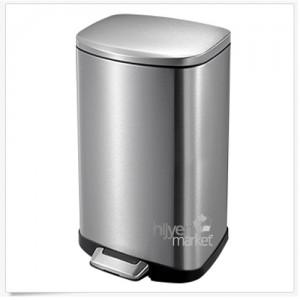 Eko paslanmaz krom pedallı çöp kovası. 30 litre